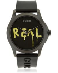 Gucci - Ghost Real G-timeless Rubber Watch - Lyst