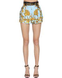 Versace - Tresor De La Mer Print Silk Twill Shorts - Lyst