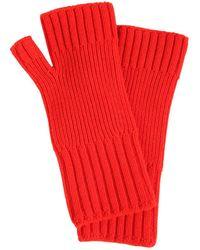 AMI - Wool Knit Gloves - Lyst