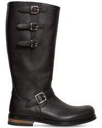Moschino - 40mm Leather Boots W/ Buckles - Lyst