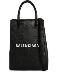 Balenciaga - Shopping Leather Phone Holder - Lyst