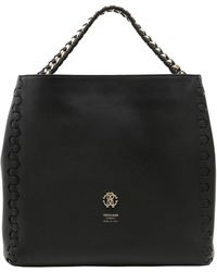 Roberto Cavalli - Regina Leather Shoulder Bag - Lyst