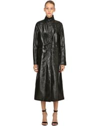 Courreges - Logo Wrinkled Vinyl Long Trench Coat - Lyst