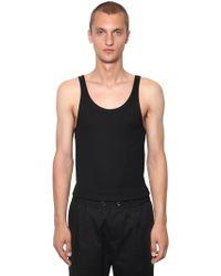 Dolce & Gabbana - Camiseta Sin Mangas De Jersey De Algodón - Lyst