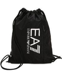 EA7 - Train Prime Nylon Drawstring Backpack - Lyst