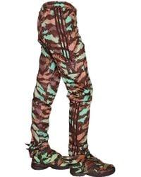 Jeremy Scott for adidas - Zip-up Nylon Cargo Trousers - Lyst