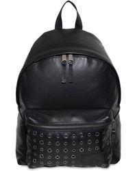 Eastpak - 24l Padded Pak'r Eyelet Leather Backpack - Lyst