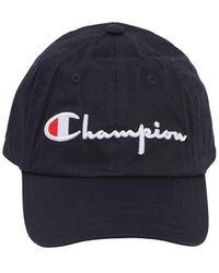 Champion - Logo Woven Cotton Baseball Hat - Lyst