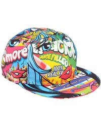 Moschino - Eyes Printed Cotton Baseball Hat - Lyst