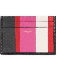 Balenciaga   Bazar Striped Leather Card Holder   Lyst