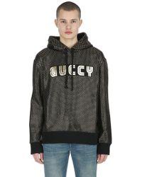 Gucci - Guccy & Stars Hooded Cotton Sweatshirt - Lyst
