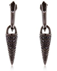 FEDERICA TOSI - Small Hoop Earrings W/ Studs - Lyst