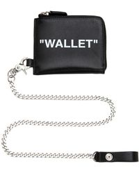 Off-White c/o Virgil Abloh Zip Around Leather Wallet W/ Chain