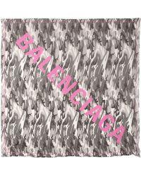 Balenciaga - Camouflage Modal & Silk Scarf - Lyst
