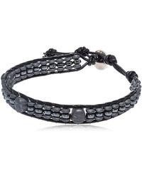 Colana - Hematite Buddha Bracelet - Lyst