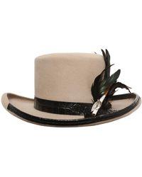 Move | Fur Felt Hat W/ Cigarette Holder | Lyst