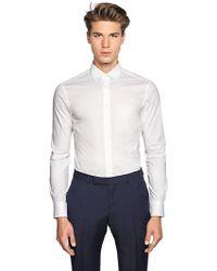 Z Zegna - Slim Fit Stretch Cotton Poplin Shirt - Lyst