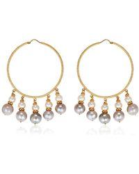 Carolina Bucci - Medium Hoops W/ Pearls - Lyst