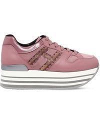 Hogan - 70mm Maxi 222 Leather Trainers - Lyst