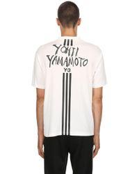 Y-3 - T-shirt Aus Baumwolljersey Mit Logodruck - Lyst