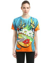 Moschino - Eyes Printed Cotton Jersey T-shirt - Lyst