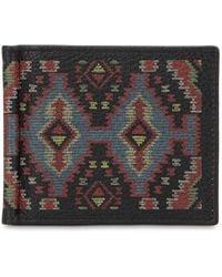 Etro - Leather Wallet W/ Money Clip - Lyst