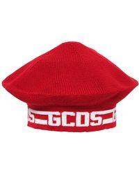 Gcds - Wool Beret W/ Jacquard Logo - Lyst