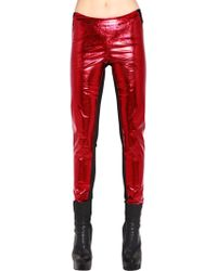 Gareth Pugh | Metallic Faux Leather Trousers | Lyst