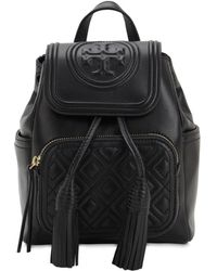 Tory Burch - Fleming Mini Quilted Leather Backpack - Lyst