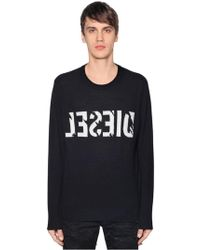 DIESEL - Backwards Logo Wool Cashmere Sweater - Lyst