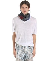 Etro - T-shirt Loose Fit In Lino - Lyst