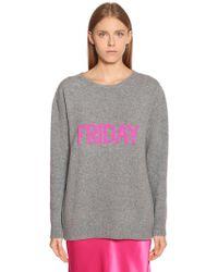 Alberta Ferretti - Friday Oversize Wool & Cashmere Jumper - Lyst