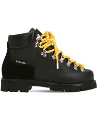 Proenza Schouler - 30mm Leather Hiking Boots - Lyst