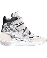 Isabel Marant - Bilsy Concealed-wedge Metallic Leather Trainers - Lyst