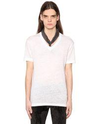 John Varvatos - T-shirt In Jersey Di Lino - Lyst