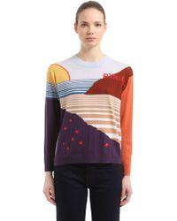 Sonia Rykiel - Landscape Intarsia Wool Knit Jumper - Lyst
