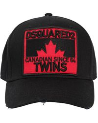 DSquared² - Patch Cotton Canvas Baseball Hat - Lyst