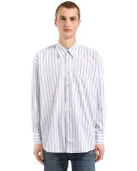 Our Legacy - Camicia Oversize In Popeline Di Cotone - Lyst