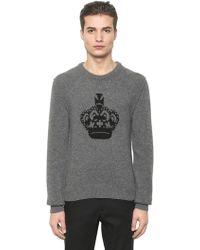 Dolce & Gabbana - Crown Intarsia Wool Jumper - Lyst
