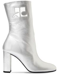 Courreges - 100mm Metallic Leather Ankle Boots - Lyst