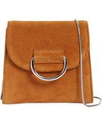 Little Liffner - Tiny Box Suede Shoulder Bag - Lyst