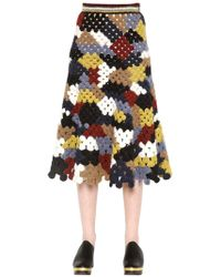 Rosetta Getty - Crocheted Alpaca-blend Midi Skirt - Lyst