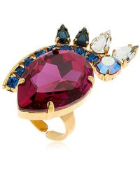 Halo - Colored Ring W/ Swarovski Crystals - Lyst