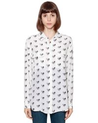 Equipment - Printed Heart Silk Shirt - Lyst