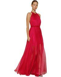 Maria Lucia Hohan - Metallic Silk Mousseline Long Dress - Lyst