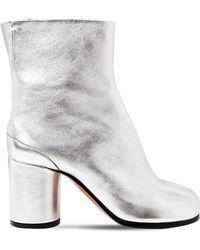 Maison Margiela - 80mm Tabi Metallic Leather Ankle Boots - Lyst