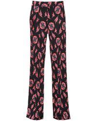 Etro - Printed Silk Jersey Pants - Lyst