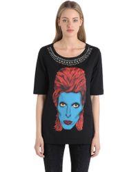 John Richmond - Embellished Cotton Jersey T-shirt - Lyst