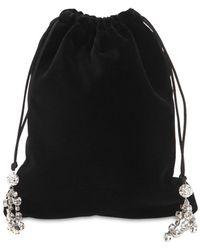 Ca&Lou - Ballerina Velvet Small Hand Bag - Lyst