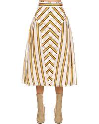 Fendi - Layered Silk Jacquard Midi Skirt - Lyst